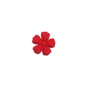Applicatie bloem rood vilt mini 15 mm (ca. 100 stuks)