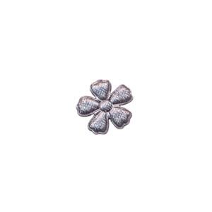Applicatie bloem grijs satijn effen mini 15 mm (ca. 100 stuks)