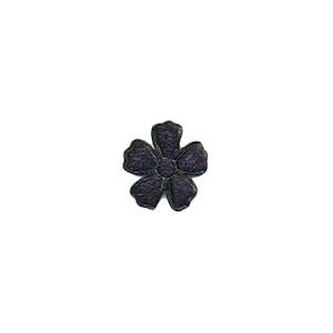 Applicatie bloem donker blauw satijn effen mini 15 mm (ca. 100 stuks)