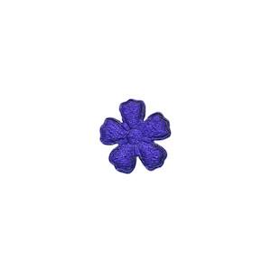 Applicatie bloem kobalt blauw satijn effen mini 15 mm (ca. 100 stuks)