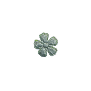 Applicatie bloem zeegroen satijn effen mini 15 mm (ca. 100 stuks)