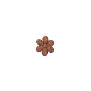 Applicatie bloem bruin satijn effen mini 10 mm (ca. 100 stuks)