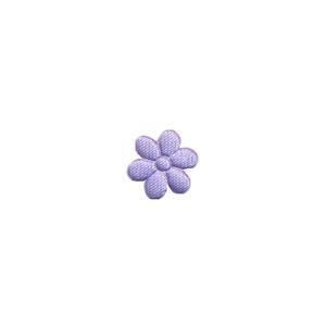 Applicatie bloem lila satijn effen mini 10 mm (ca. 100 stuks)