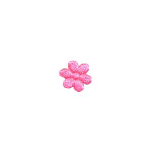 Applicatie bloem NEON roze satijn effen mini 10 mm (ca. 100 stuks)