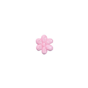Applicatie bloem lichtroze satijn effen mini 10 mm (ca. 100 stuks)