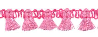 Band met kwastjes roze-lichtroze 15 mm (ca. 16 meter)