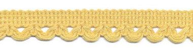 Sierband met lus-/schulprandje zachtgeel 12 mm (ca. 32 meter)