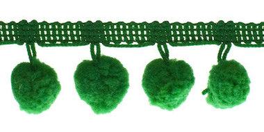 Pompom band groen 20 mm (ca. 16 meter)