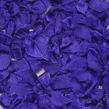 Satijnen strikjes kobalt blauw (ca. 100 stuks)