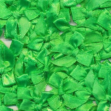 Satijnen strikjes gifgroen (ca. 100 stuks)