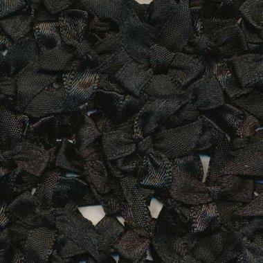 Satijnen strikjes zwart (ca. 100 stuks)