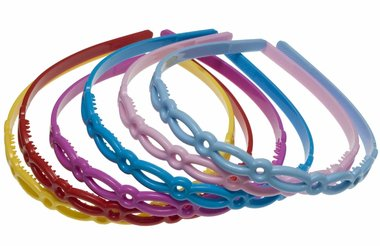 Diadeem 'onbreekbaar' 6 kleuren fresh (6 stuks)