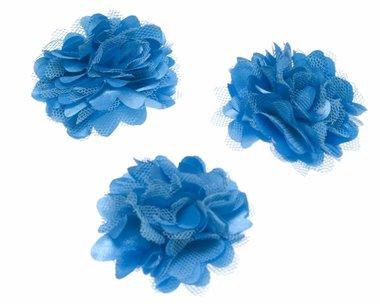 Bloem stof aqua ca. 5 cm (5 stuks)