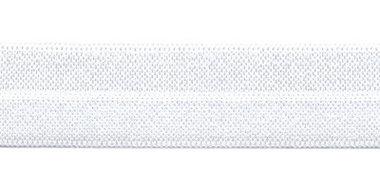 Wit #111 elastisch biaisband 20 mm (ca. 25 m)