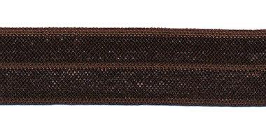 Donker bruin #014 elastisch biaisband 20 mm (ca. 25 m)