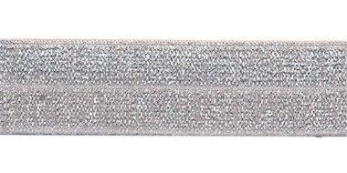 Zilver #201 elastisch biaisband 20 mm (ca. 25 m)