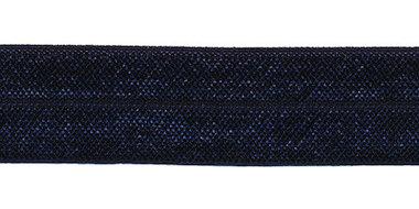 Donker blauw #027 elastisch biaisband 20 mm (ca. 25 m)