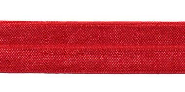 Rood #029 elastisch biaisband 20 mm (ca. 25 m)