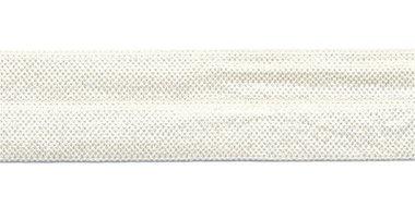 Creme/ivoor #010 elastisch biaisband 20 mm (ca. 25 m)