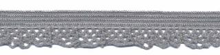 Elastisch kant grijs 12 mm (ca. 25 m)