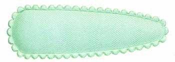 Haarknip met haarkniphoesje mintgroen effen satijn 5 cm (ca. ca. 100 stuks)