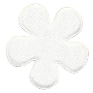 Applicatie bloem creme satijn effen groot 47 mm (ca. 100 stuks)