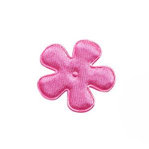 Applicatie bloem roze satijn effen klein 25 mm (ca. 100 stuks)
