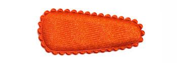 Haarkniphoesje satijn oranje 3 cm (ca. 100 stuks)