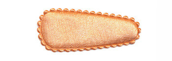 Haarkniphoesje satijn zalm/oranje 3 cm (ca. 100 stuks)