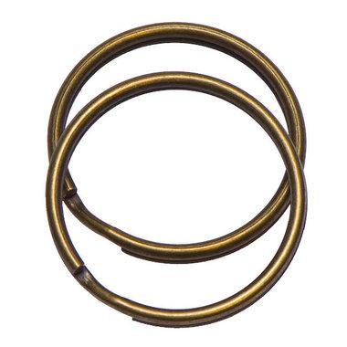 Sleutelring bronskleurig 30 mm (10 stuks)