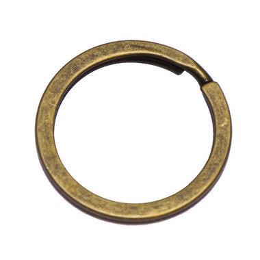 Sleutelring plat bronskleurig ca. 30 mm (10 stuks)
