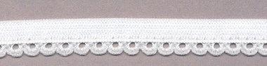 Elastisch kant wit met sierrandje 9 mm 0642/9S (ca. 10 m)