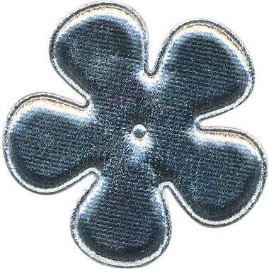 Applicatie bloem zilver EXTRA GROOT 65 mm (ca. 100 stuks)