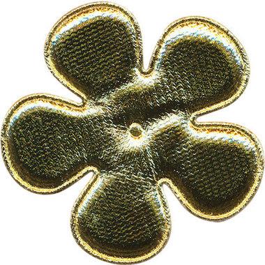 Applicatie bloem goud EXTRA GROOT 65 mm (ca. 100 stuks)