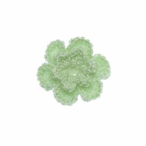 Gehaakt roosje licht mintgroen 25 mm (10 stuks)
