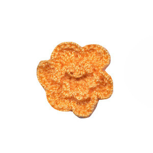 Gehaakt roosje pompoen 25 mm (10 stuks)