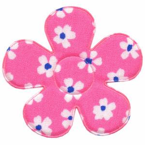 Applicatie bloem roze met bloem katoen groot 45 mm (ca. 100 stuks)