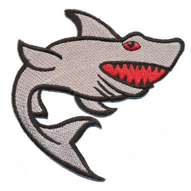 Opstrijkbare applicatie haai grijs (5 stuks)