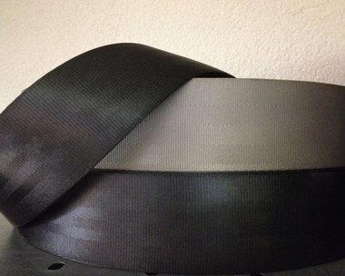 Tassenband/autogordel 47 mm grijs nylon ZEER STEVIG (50 m)