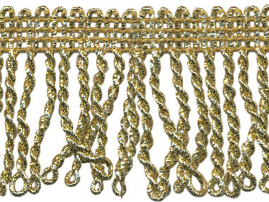 Franjeband gedraaid goud lurex ca. 50 mm (ca. 5 meter)