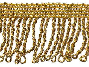 Franjeband gedraaid warm goud lurex ca. 50 mm (ca. 5 meter)