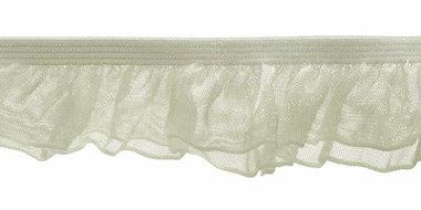 Ivoor roezel elastiek met dubbele roezel ca. 27 mm (ca. 10 meter)