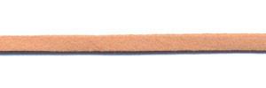 Imitatie suede veter zalm roze 3 mm (ca. 10 m)