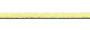 Imitatie suede veter zachtgeel 3 mm (ca. 10 m)