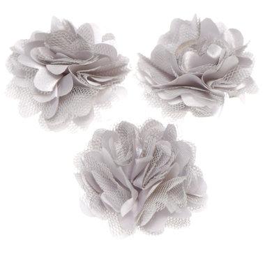 Bloem stof zilvergrijs ca. 5 cm (5 stuks)