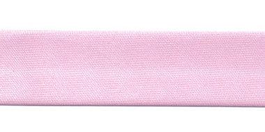 Roze gevouwen satijnen biaisband 20 mm (25 meter)