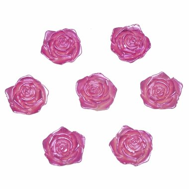 Flatback roos roze parelmoer middel 19 mm (100 stuks)