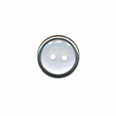 Knoop met metalen rand wit 13 mm (ca. 100 stuks)