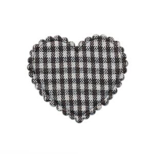 Applicatie ruitjes hart zwart middel 35 x 30 mm (ca. 100 stuks)