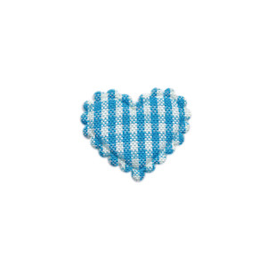 Applicatie ruitjes hart aqua klein 25 x 20 mm (ca. 100 stuks)